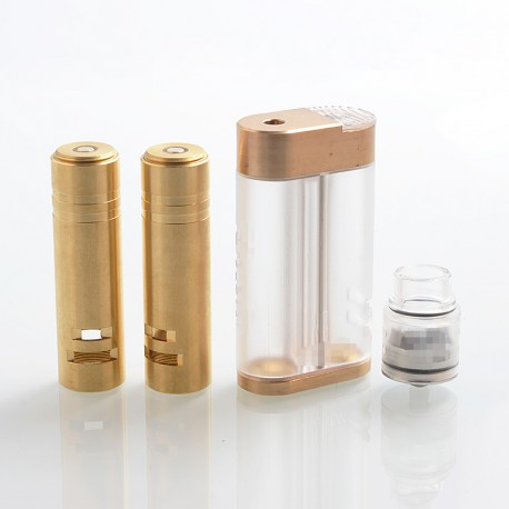 Viper Style Mechanical Mod + Kampilan Style RDA Kit - Clear, PC + Brass, 2 / 3 / 4 x 18650