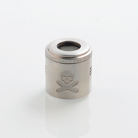 Authentic Vandy Vape Replacement Airflow Cap for Bonza Kit / Bonza V1.5 RDA - Silver, Stainless Steel