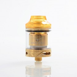 Authentic Oumier Wasp Nano RTA Rebuildable Tank Atomizer - Gold, PCTG + Stainless Steel + Glass, 2ml, 23mm Diameter