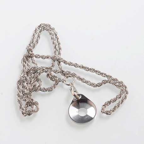 SXK Decorative Ring Chain Lanyard - Silver, Iron + Nickel + Stainless Steel, 22mm Diameter