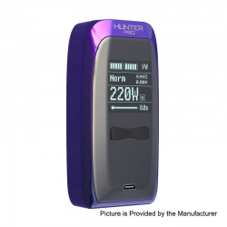 Authentic Vapemons Hunter Pro 200W TC VW Variable Wattage Box Mod - Chameleon, 6~200W, 2 x 18650