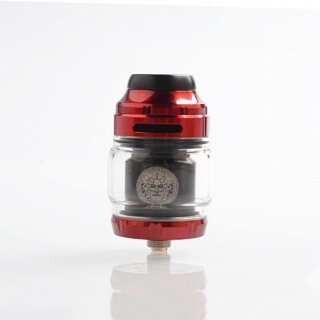 Authentic GeekVape Zeus X RTA Rebuildable Tank Atomizer - Red, Stainless Steel, 4.5ml, 25mm Diameter