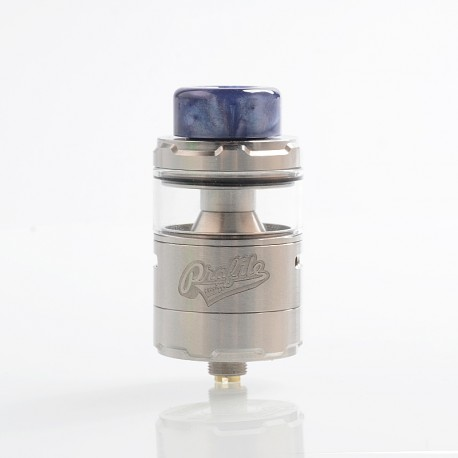 Authentic Wotofo Profile Unity RTA Rebuildable Tank Atomizer - Silver, Stainless Steel, 5ml, 25mm Diameter