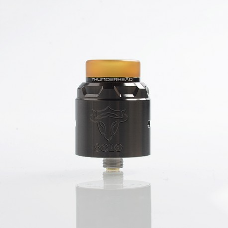 Authentic ThunderHead Creations THC Tauren Solo RDA Rebuildable Dripping Atomizer w/ BF Pin - SS Gun Metal, 2ml, 24mm Diameter