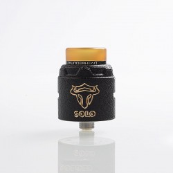 Authentic ThunderHead Creations THC Tauren Solo RDA Rebuildable Dripping Atomizer w/ BF Pin - Brass Black, 2ml, 24mm Diameter