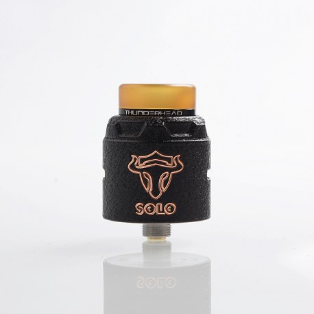 Authentic ThunderHead Creations THC Tauren Solo RDA Rebuildable Dripping Atomizer w/ BF Pin - Copper Black, 2ml, 24mm Diameter