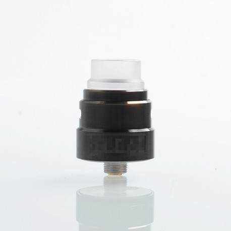 Reload S Style RDA Rebuildable Dripping Atomizer w/ BF Pin - Black, Stainless Steel, 22mm Diameter