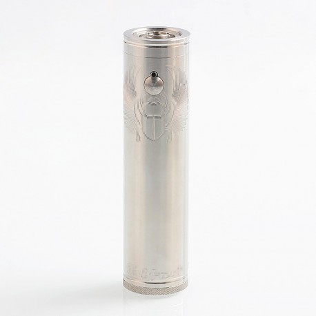 TF Scarab Pro Max Style Mechanical Tube Mod Updated Version - Silver, 316 Stainless Steel, 1 x 18650 / 21700