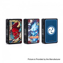 Authentic Vapelustion Hannia 230W TC VW Variable Wattage Box Mod - Graffiti, 2 x 18650