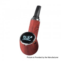 Authentic Anlerr Pipevape 1000mAh 30W TC VW Dry Herb Wax Vaporizer - Red Wood Grain, 21~30W, 149~224'C / 300~435'F