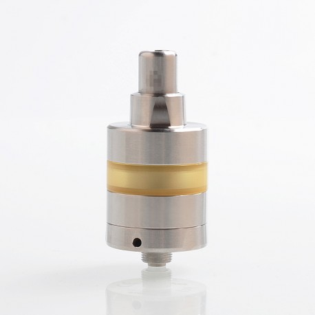 SXK KF Lite 2019 Style RTA Rebuildable Tank Atomizer - Silver, 316 Stainless Steel + PEI, 2ml, 22mm Diameter