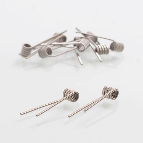 Authentic Coilology Fused Clapton Ni80 Wire Prebuilt Coil - 26GA x 2 + 36GA, 0.34 Ohm (10 PCS)