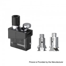 Authentic SMOKTech SMOK Trinity Alpha Kit Replacement Pod Cartridge + Nord MTL 0.8ohm Coil + Mesh 0.6 Coil Kit - 2.8ml