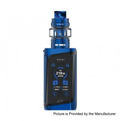 Authentic SMOKTech SMOK MORPH 219W TC VW Box Mod Kit + TF2019 Tank Standard Edition - Prism Blue+Black, 1~219W, 6ml, 2 x 18650