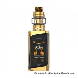 Authentic SMOKTech SMOK MORPH 219W TC VW Box Mod Kit + TF2019 Tank Standard Edition - Gold+Black, 1~219W, 6ml, 2 x 18650