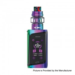 Authentic SMOKTech SMOK MORPH 219W TC VW Box Mod Kit + TF2019 Tank Standard Edition - 7-Color + Black, 1~219W, 6ml, 2 x 18650