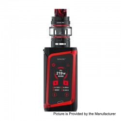 Authentic SMOKTech SMOK MORPH 219W TC VW Box Mod Kit + TF2019 Tank Standard Edition - Black + Red, 1~219W, 6ml, 2 x 18650