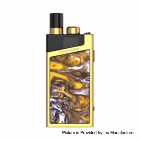 Authentic SMOKTech SMOK Trinity Alpha Resin 1000mAh Pod Starter Kit Standard Edition - Prism Gold, 2.8ml