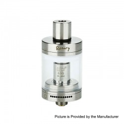 Authentic YouDe UD Rosary Tank Clearomizer - Silver, 3ml, 0.5ohm, Stainless Steel + Zinc Alloy + Glass, 22mm Diameter