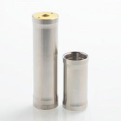 YFTK VW Style Hybrid Mechanical Tube Mod - Silver, 316 Stainless Steel, 1 x 18350 / 18650, 22mm Diameter