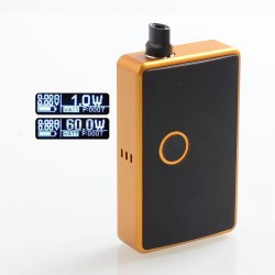 SXK BB Style 60W All-in-One Box Mod Kit w/ USB Port - Yellow, Aluminum Alloy, 1 x 18650, Evolv DNA 60
