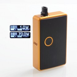 SXK BB Style 70W All-in-One Box Mod Kit w/ USB Port - Yellow, Aluminum, 1 x 18650
