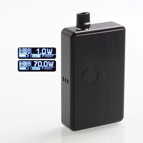 SXK BB Style 70W All-in-One Box Mod Kit w/ USB Port - Black, Aluminum, 1 x 18650