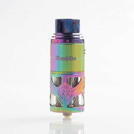 Authentic Vapefly Brunhilde Top Coiler RTA Rebuildable Tank Atomizer - Rainbow, Stainless Steel, 8ml, 25mm Diameter