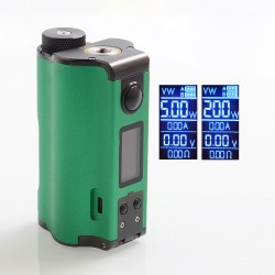 Authentic Dovpo Topside Dual 200W TC VW Variable Wattage Squonk Box Mod - Green, 5~200W, 2 x 18650, 10ml