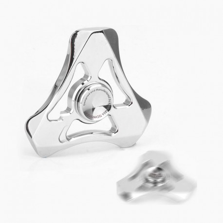 Authentic Magic Shark Soul Eater Hand Spinner Fidget Toy EDC - Silver, Stainless Steel, R188 Bearing