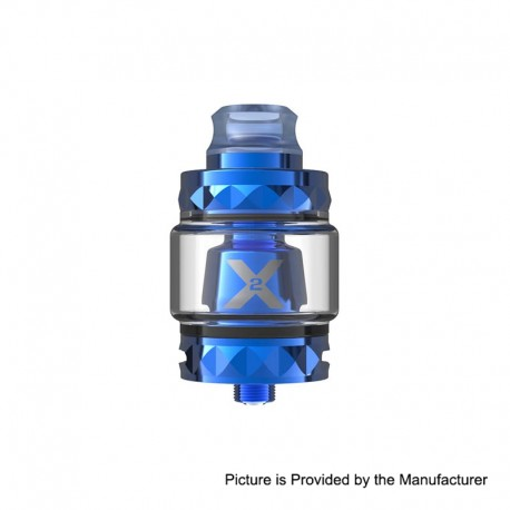 Authentic Vapemons X2 Mesh Sub Ohm Tank Clearomizer - Blue, 0.15ohm, 5ml, 24mm Diameter