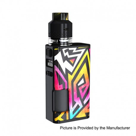 Authentic Wismec Luxotic Surface 80W TC VW Squonk Mod + Kestrel RDTA Kit - Linear, 1~80W, 6.5ml + 4ml, 1 x 18650