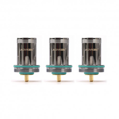 Authentic Advken Dark Mesh Replacement Single Mesh Coil Head - 0.15 Ohm (50~80W) (3 PCS)