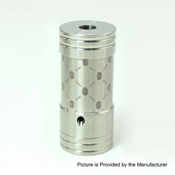 SXK Corinne Style Hybrid Mechanical Tube Mod - Silver, 316 Stainless Steel, 1 x 18350