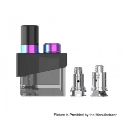 Authentic SMOKTech SMOK Trinity Alpha Kit Replacement Pod Cartridge + Nord MTL 0.8 Coil + Mesh 0.6 Coil - Prism Rainbow, 2.8ml