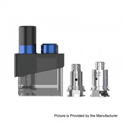Authentic SMOKTech SMOK Trinity Alpha Kit Replacement Pod Cartridge + Nord MTL 0.8ohm Coil + Mesh 0.6 Coil - Prism Blue, 2.8ml