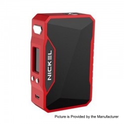 Authentic Dovpo Nickel 230W TC VW Variable Wattage Box Mod - Red + Space Black, 10~230W, 2 x 18650