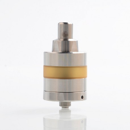 YFTK KF Lite 2019 Style RTA Rebuildable Tank Atomizer - Silver, 316 Stainless Steel + PEI, 2ml, 24mm Diameter