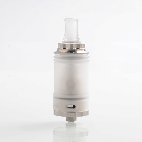 YFTK TROYA MV2 Style MTL RTA Rebuildable Tank Atomizer - Silver, 316 Stainless Steel + PC, 3.7ml, 22mm Diameter