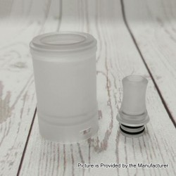 YFTK Replacement 510 Drip Tip + Tank Tube for TROYA MV2 Style MTL RTA - White, PC, 3.7ml