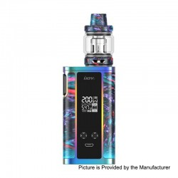 Authentic IJOY Captain Resin 200W TC VW Box Mod + Captain Resin Tank Kit - R-Splendor, 2 x 18650 / 20700, 6ml, 0.2 Ohm