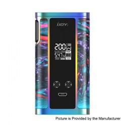 Authentic IJOY Captain Resin 200W TC VW Variable Wattage Box Mod - R-Splendor, 2 x 18650 / 20700