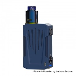 Authentic Teslacigs Invader 4X 280W VV Variable Voltage Box Mod + Invader 4X RDA Kit - Blue, 3~8V, 2 x 18650, 25mm Diameter