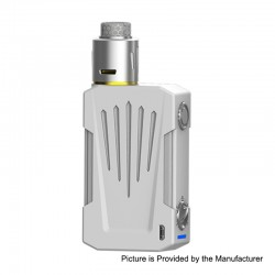 Authentic Teslacigs Invader 4X 280W VV Variable Voltage Box Mod + Invader 4X RDA Kit - White, 3~8V, 2 x 18650, 25mm Diameter