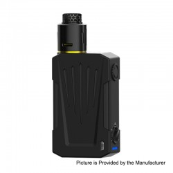 Authentic Teslacigs Invader 4X 280W VV Variable Voltage Box Mod + Invader 4X RDA Kit - Black, 3~8V, 2 x 18650, 25mm Diameter
