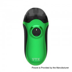 Authentic VapeCige VTX 480mAh VV Pod System Starter Kit - Green, 3.2~4.2V, 2.5ml