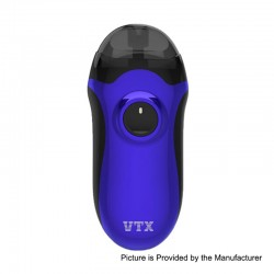 Authentic VapeCige VTX 480mAh VV Pod System Starter Kit - Blue, 3.2~4.2V, 2.5ml
