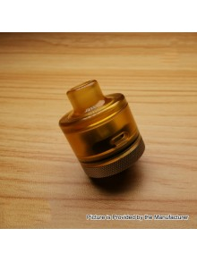 Evade Hydro Style RDA Rebuildable Dripping Atomizer w/ BF Pin - Yellow, PC + Stainless Steel, 22mm Diameter