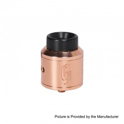 Authentic 528 Customs Goon RDA Rebuildable Dripping Atomizer w/ BF Pin - Copper, Copper + Stainless Steel, 25mm Diameter