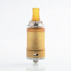 YFTK TROYA MV2 Style MTL RTA Rebuildable Tank Atomizer - Silver, 316 Stainless Steel + PEI, 3.7ml, 22mm Diameter